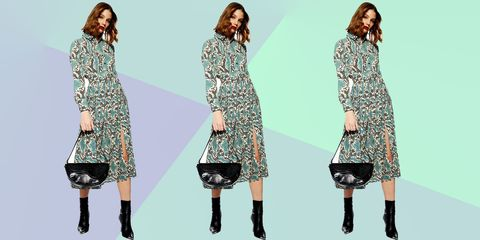 650529d8ee Topshop now has a snake-print version of their midi shirt dress