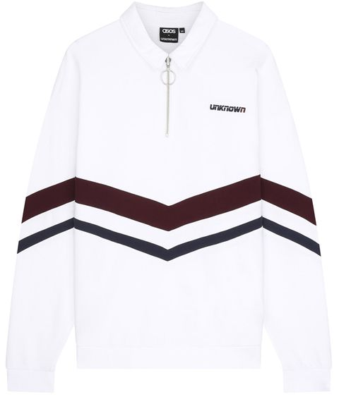 White, Clothing, Sleeve, Outerwear, T-shirt, Collar, Jersey, Jacket, Polo shirt, Sweater,