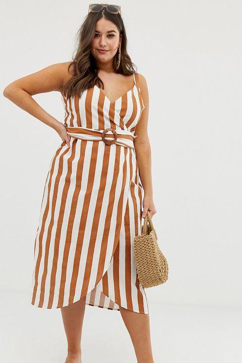 ab1a262acdacc Best ASOS summer dresses. ASOS. BUY NOW Curve wrap midi ...