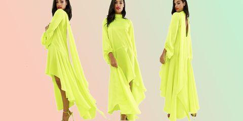 neon, fashion, dress, asos