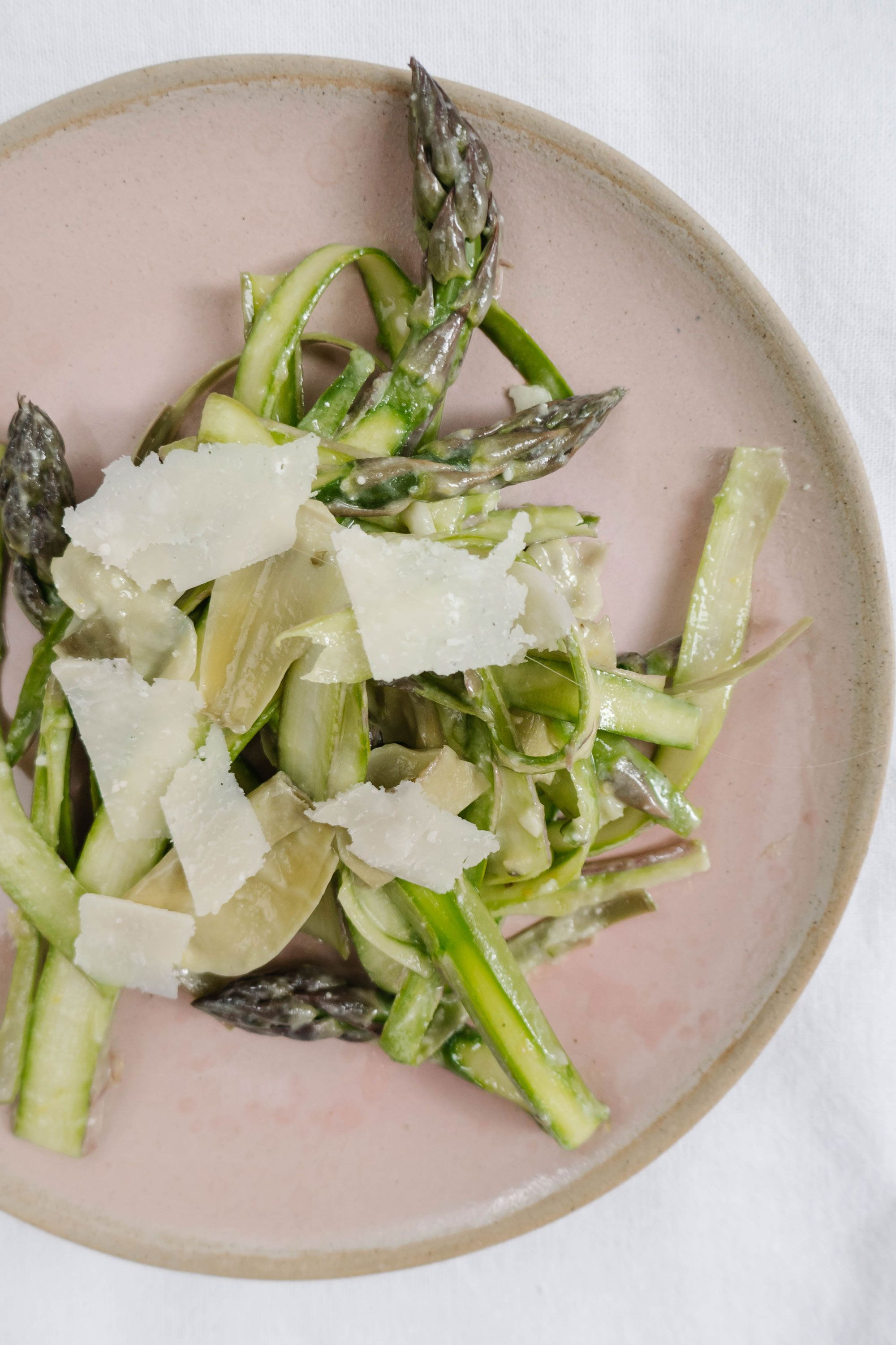 Taste the bounty of spring with this asparagus and artichoke salad