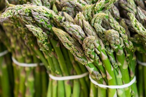 asparagus seen displayed on the shelves of wroclaw market