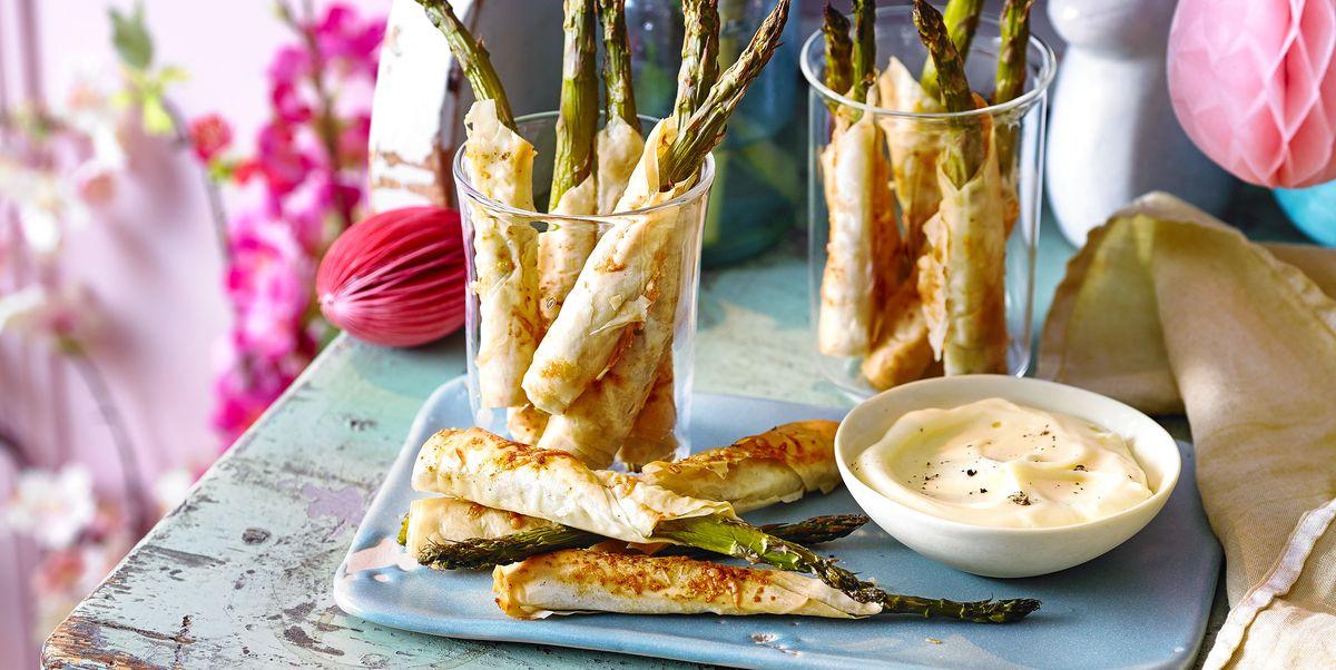 Asparagus Straws with Cheat's Hollandaise Recipe