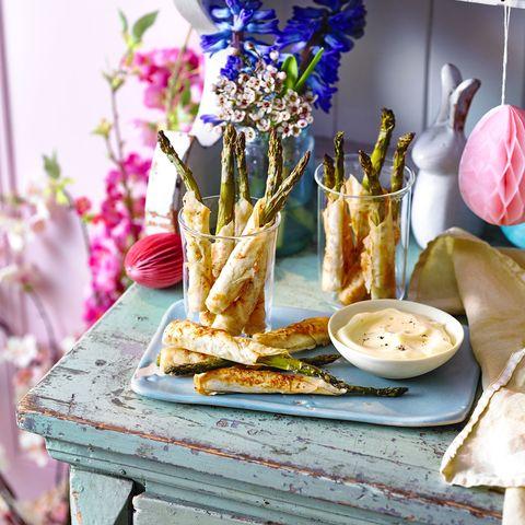 asparagus straws with cheat's hollandaise