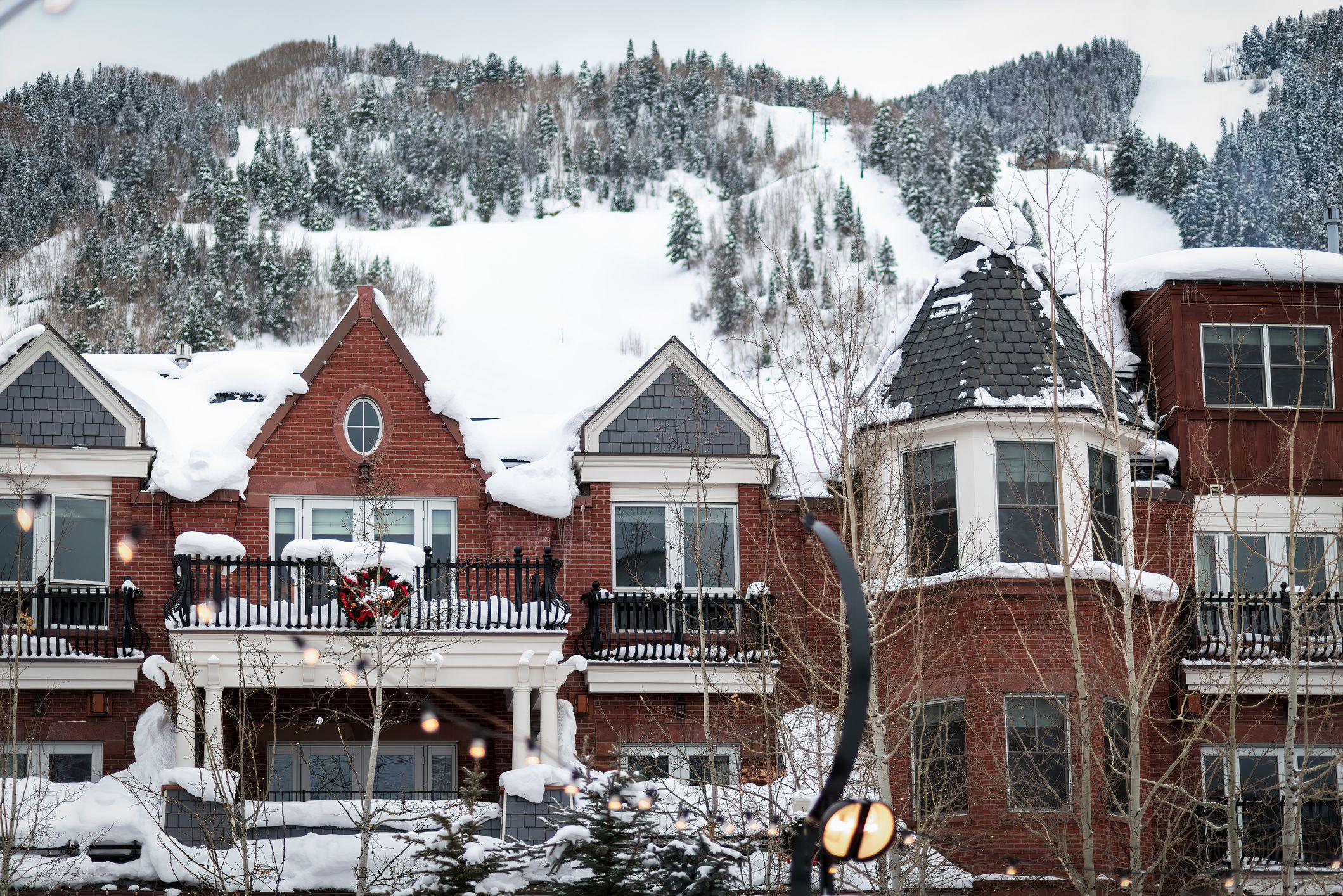 Aspen Colorado vinter sentrum