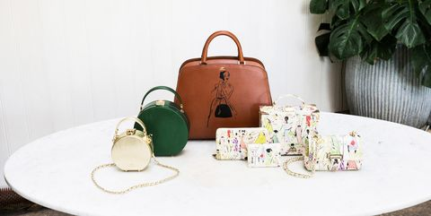Green, Bag, Handbag, Fashion accessory, Tableware, Table, Room, Textile, Luggage and bags, Plant,