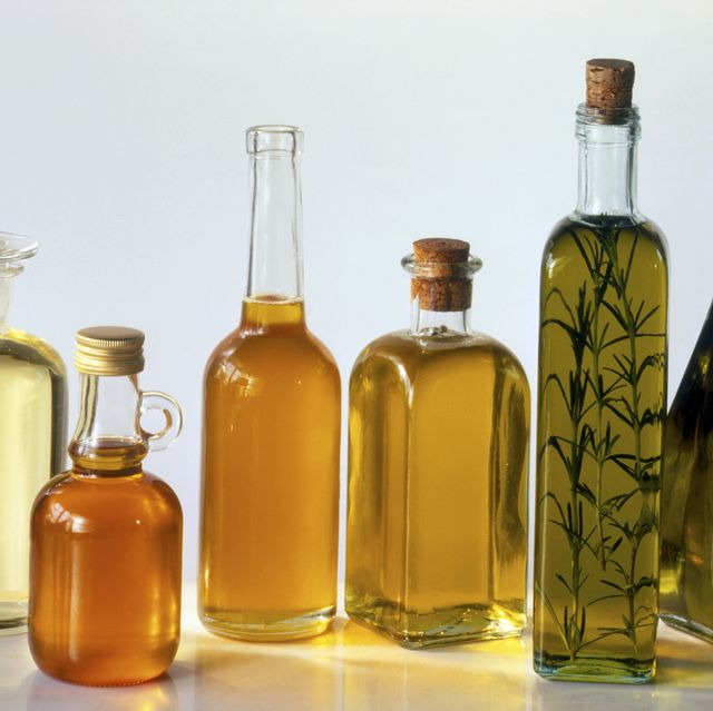 assorted bottled cooking oils