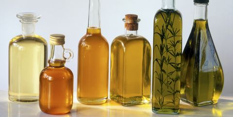 assorted bottled cooking oils