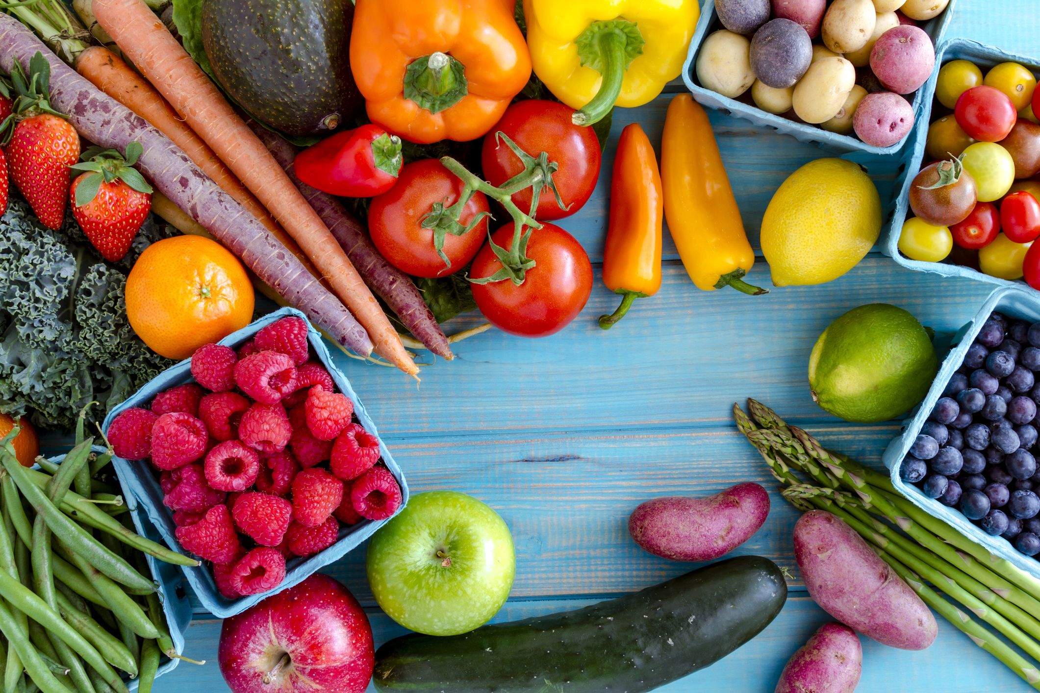 dieta a base de verduras crudas