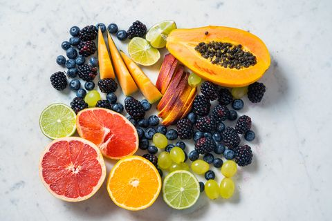 assorted fruits on a marble background