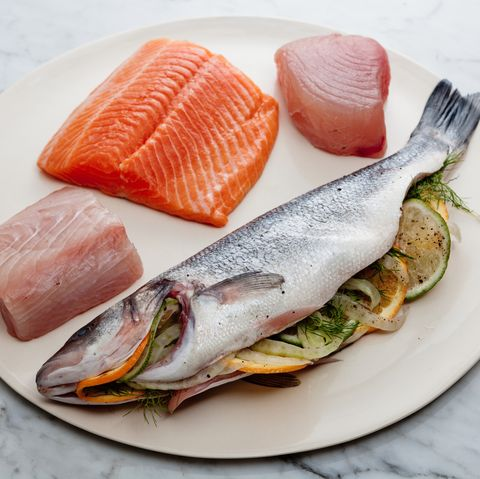 assorted raw fish