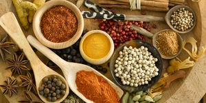 Assorted spices, close-up