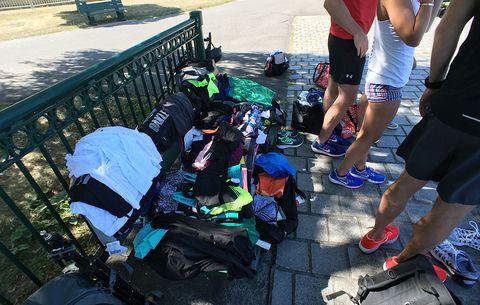 assorted running gear