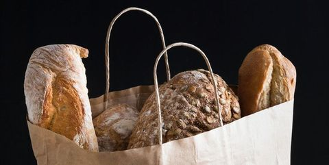 Product, Bread, Bag, Shopping bag, Still life photography, Metal,
