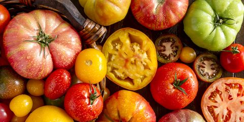 Ortment Of Fresh Heirloom Tomatoes