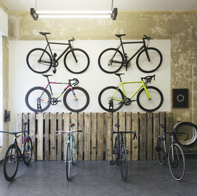 assortment of racing cycles in a custom made bicycle store
