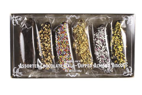 Trader Joe's Assorted Chocolate Half-Dipped Almond Biscotti