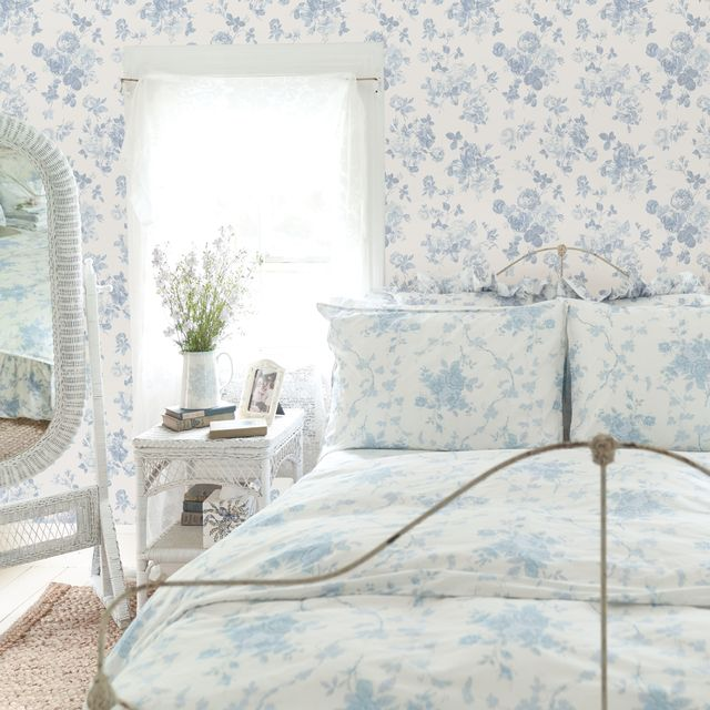 loveshackfancy's new wallpaper and bedding collection