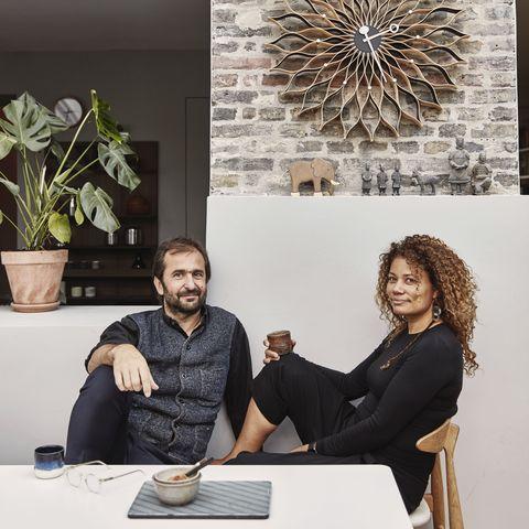 lighting brand astep founder alessandro sarfatti and his wife yasmin