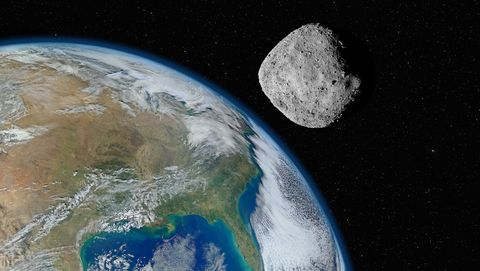 bennu ruimterots raakt aarde