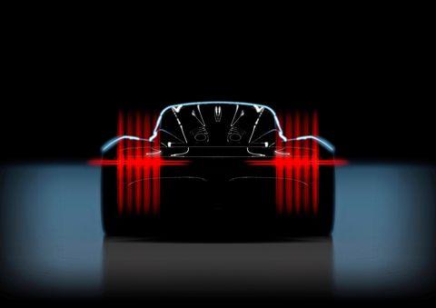 Aston Martin 003 Teased New Mid Engined Hybrid Hypercar