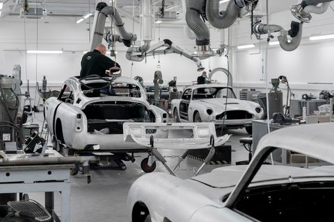 aston martin db5 goldfinger continuation car production begins