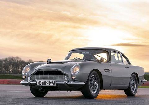 Land vehicle, Vehicle, Car, Classic car, Aston martin db4, Aston martin db5, Coupé, Convertible, Sedan, Sports car,