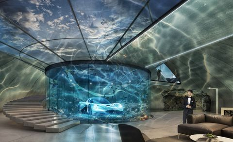 Architecture, Sky, Design, Glass, Interior design, Transparent material, Leisure, Ceiling, Space, Building,