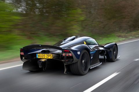 Aston Martin Valkyrie hypercar testing on public roads