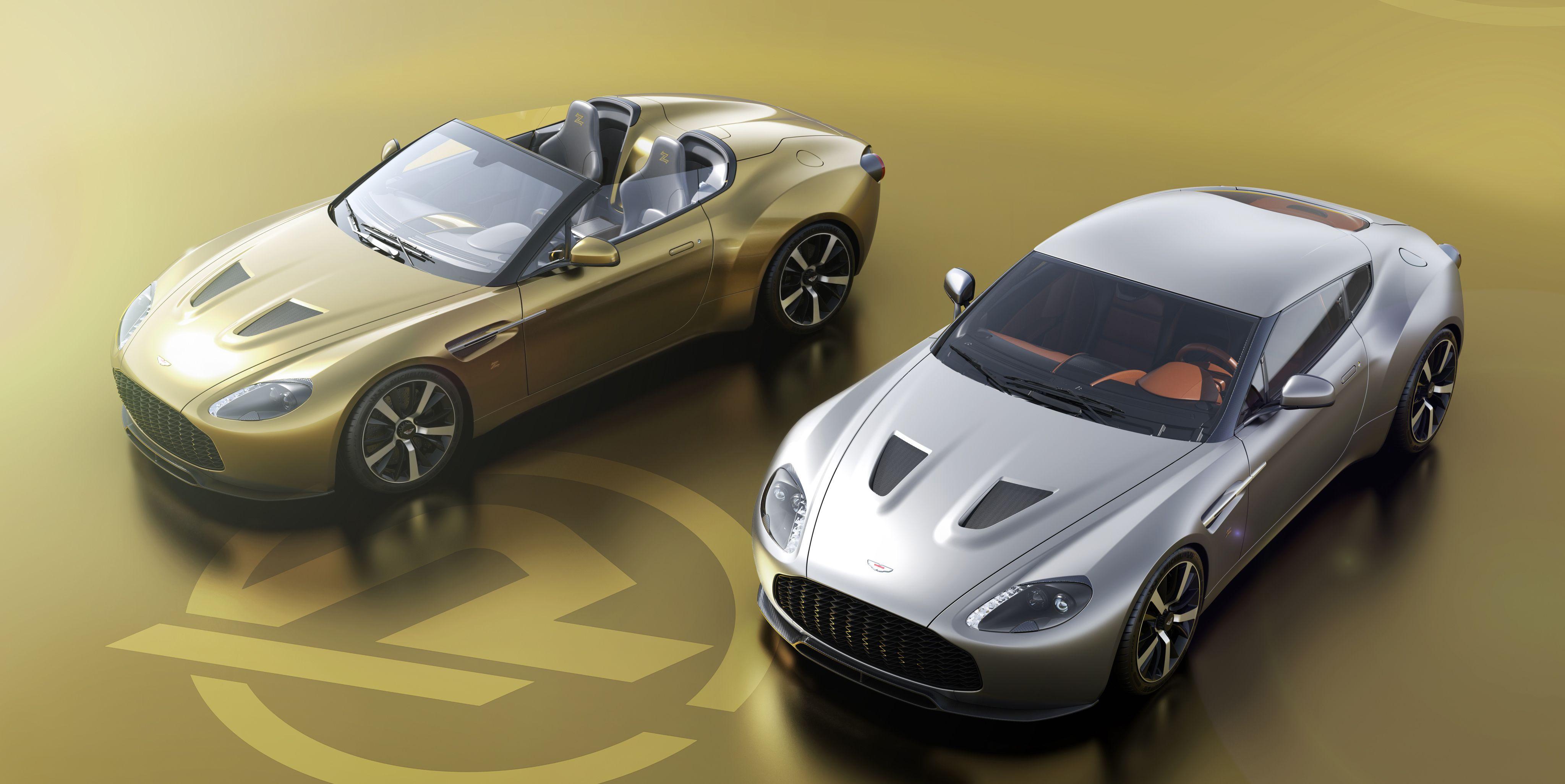 Aston Martin Vantage Zagato V12 Coupe, Speedster Pair Revealed