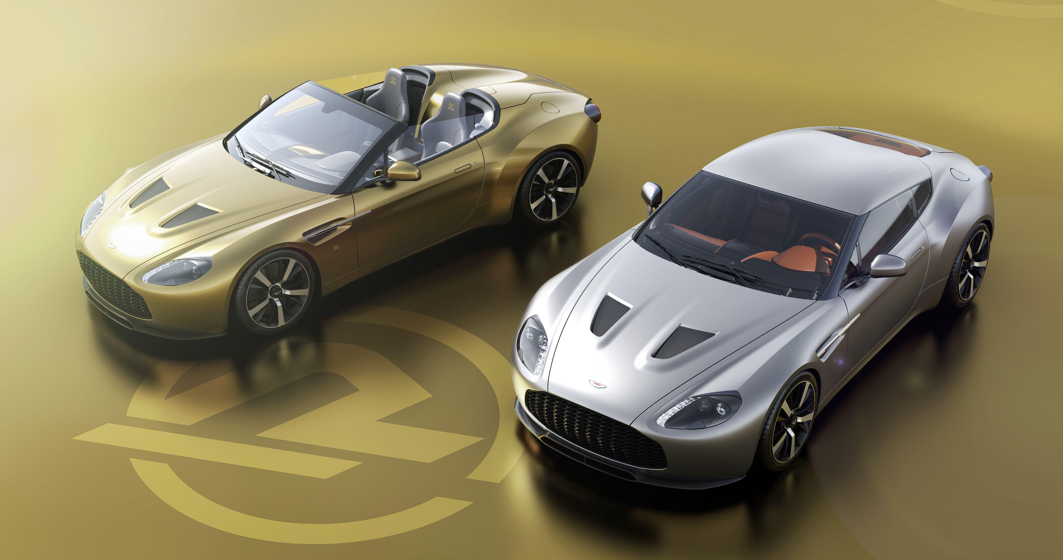 Aston Martin Vantage Zagato V12 Coupe Speedster Pair Revealed