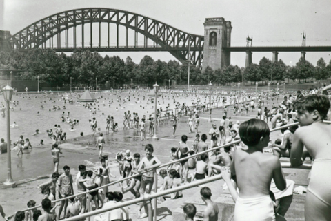 astoria park, pool, swim, new york
