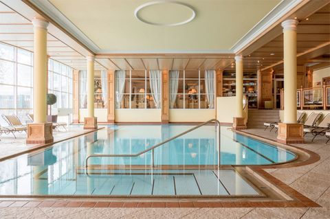Swimming pool, Property, Building, Leisure centre, Ceiling, Leisure, Interior design, Real estate, Room, Glass,