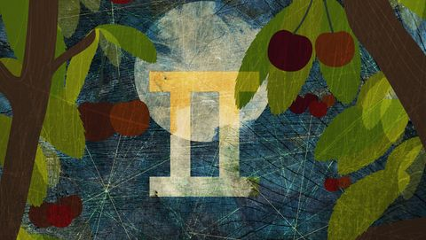 astrological sign of gemini with cherry trees and the moon