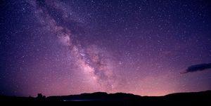Starry sky at night, mono lake, california, usa