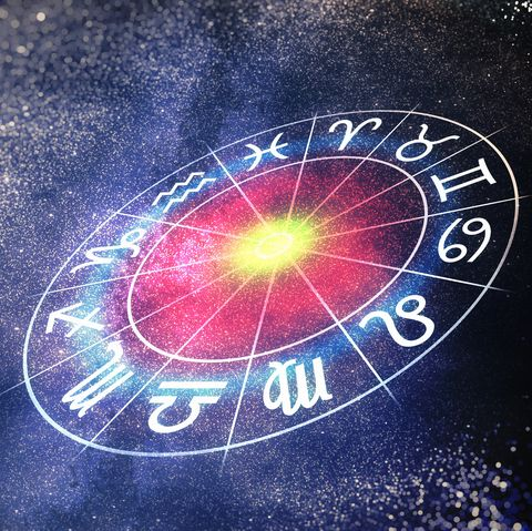 Astrology and horoscopes concept. 3D rendered illustration of zodiac signs in circle.