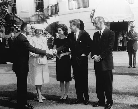 Alan Shepard Receiving Presidential Award