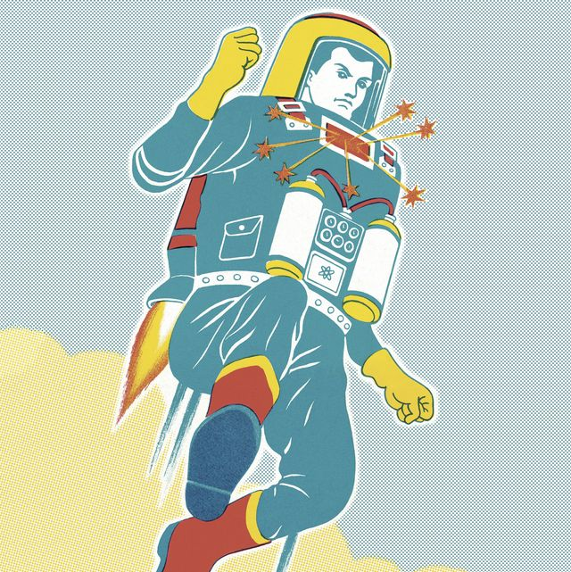 astronaut with a jet pack