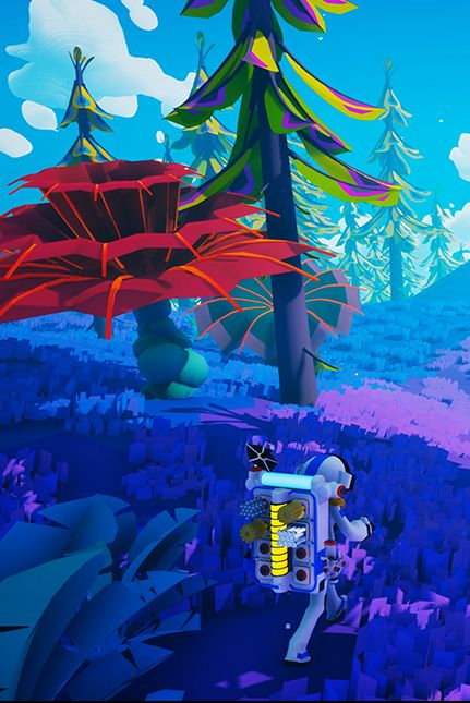 Blue, Majorelle blue, Biome, Action-adventure game, Organism, Screenshot, World, Fictional character, Electric blue, Adventure game,