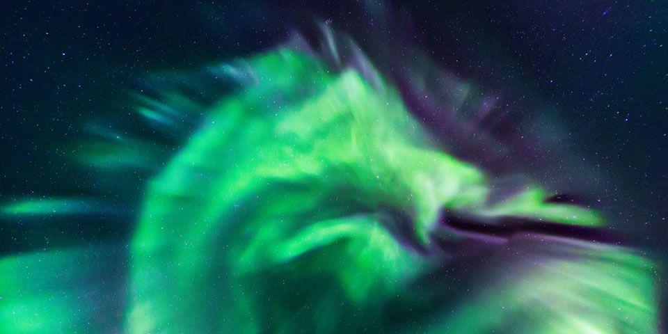 NASA post photo of 'dragon' aurora charging through the sky