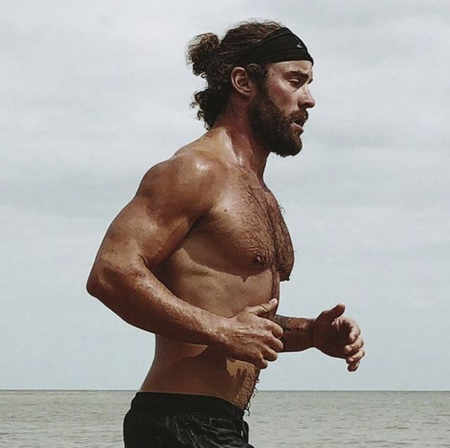 Barechested, Muscle, Chest, Arm, Standing, Human, Facial hair, Human body, Photography, Neck,