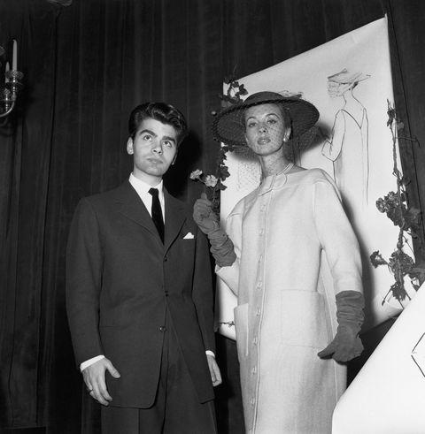 The Stylist Karl Lagerfeld In Paris In 1954