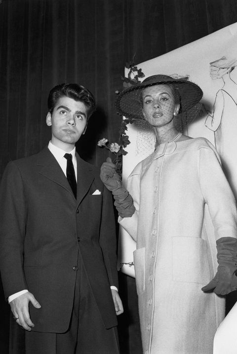 The Stylist Karl Lagerfeld In Paris In 1954