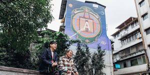 gucci art wall,藝術牆,台北,永康街,黃子佼,電影看板,國寶,顏振發,台南