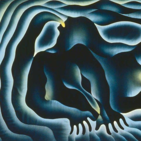 earth birth, from the series birth project, 1983, by judy chicago