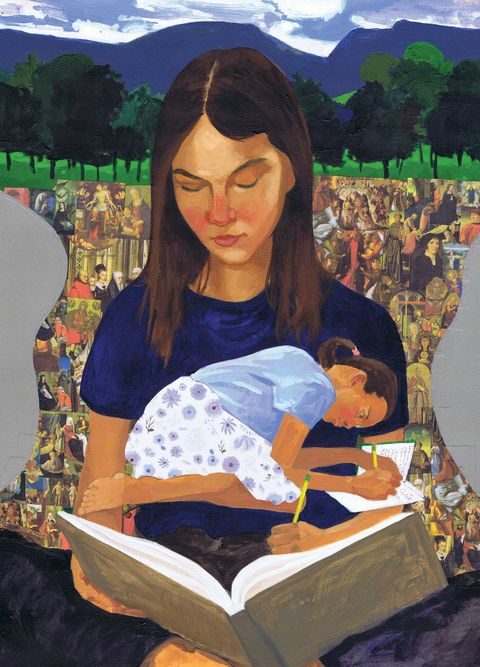 homeschooling illustration, catherine womack