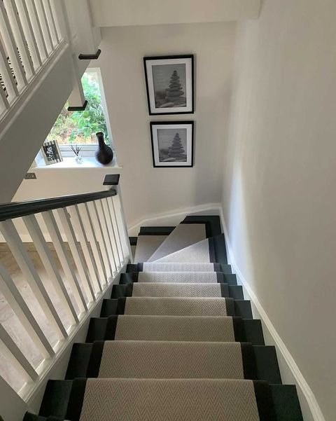 stair runner in new build home