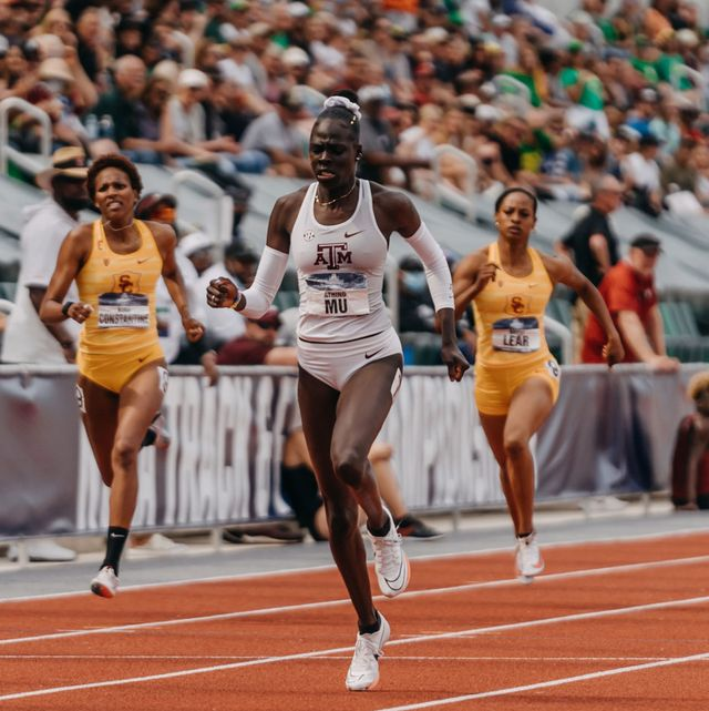 athing mu at the ncaa outdoor track and field championships on june 9, 2021