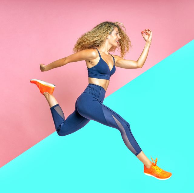 athlete and fitness woman running