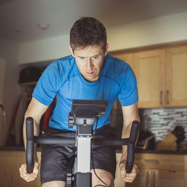 athlete staying at home, training during coronavirus pandemic